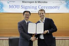 마크로젠, 호주 장내 미생물 분석기업 마이크로바와 MOU 체결