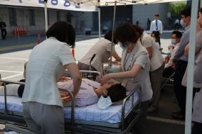 건국대병원, 환자 안전 위한 소방종합훈련 실시