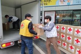 적십자사 서울지사, 코로나19 대응 의료진에 장갑·손소독제 지원